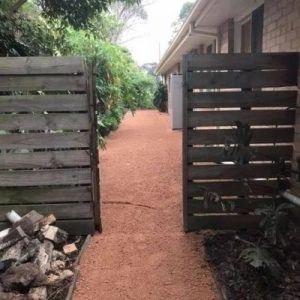 close up of finished garden path